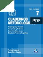 Cuadernos metodológicos - Psicología experimental, fundamentos y protocolos para el estudio de procesos cognitivos.pdf