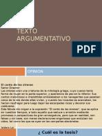 Ppt Texto Argumentativo 2016
