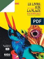 Programme Livres sur la Place 2017