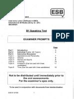b1 Speaking Test Examiner Prompts Sample