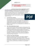 Adjunto No. 15 International Commercial Terms