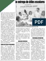 19-08-17 Supervisa Adrián entrega de útiles escolares