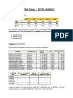 Examen Final Excel Basico