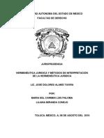 Hermeneutica y Metodos de Interpretacion