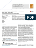 2014-Impact of weathering on slope  stability in soft rock mass.pdf