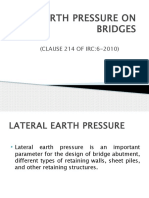 Earth Pressure on Bridges