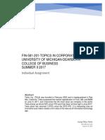 Corporate Finance of Tesla, Inc
