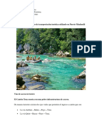 Análisis de Los Medios de Transportación Turística Utilizado en Puerto Misahuelli