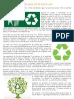 Para Qué Sirve Reciclar