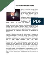 Biografìa de Antonio Neumane