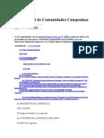 Ley de Comunidad Campesina
