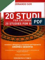 SOR - 20 Studi (Rev Segovia - Gilardino) (Guitar - Chitarra)