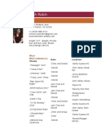 sshs performing arts resume - leah robin