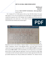 A REPORT ON TRIP TO 132/33Kv GRID SUBSTATION