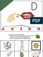 Punto Articulatorio d - Palabras Con d