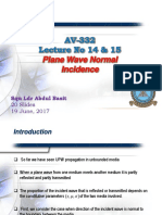 14 and 15. Av 332 - Plane Wave Normal Incidence
