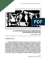 Cayetano de Lella Capacitacion Agentes Educacion Adultos