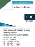 Corporate Finance Ppt. Slide