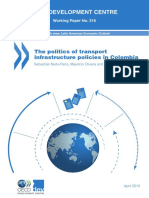 The politics of transport infrastructure policies in Colombia