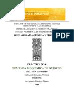 Demanda Bioquímica de Oxígeno _oceanografía