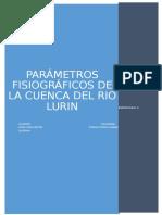 Parámetros Fisiográficos de La Cuenca Del Rio Lurin