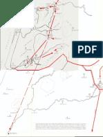 Croquis de las operaciones bélicas sobre la frontera aftásida septentrional de EL SOLAR DE LOS AFTÁSIDAS de Manuel Terrón Albarrán