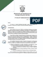 Resolución N°330-2017-SINEACE-CDAH-P