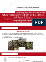 Mechanical and Thermal Properties of Vulcanized Natural Rubber Reinforced With Bio-based Fillers