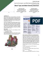 methodology for mesh type and density