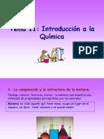 Tema 11 Introduccion a La Quimica