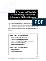 Phrases and Vocabulary for TOEFL Writing Section