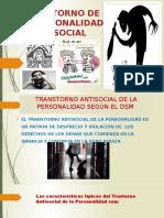 Transtorno de La Personalidad Antisocial