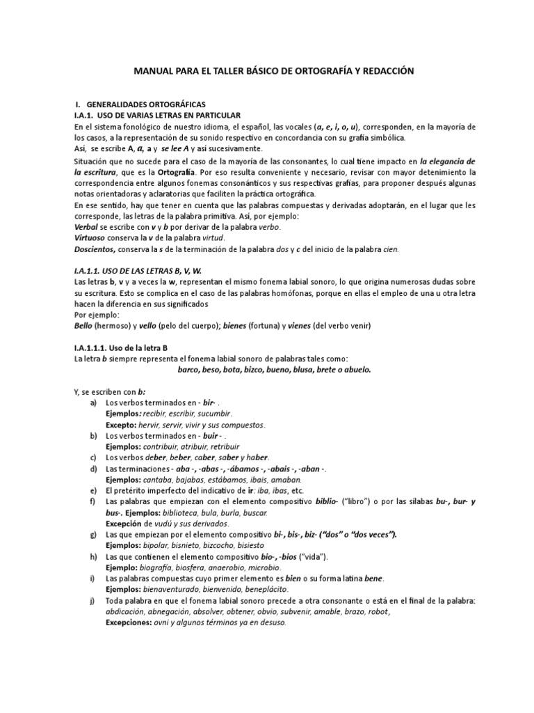 03 Manual Taller Básico de Ortografía y Redacción