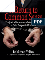 A Return to Common Sense by Michael Volkov