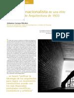 El lenguaje nacionalista de una élite     Las Pláticas de Arquitectura de 1933