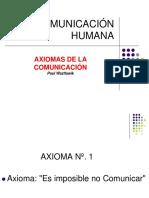 AXIOMAS DE LA COMUNICACIÓN   Paul Waztlawik