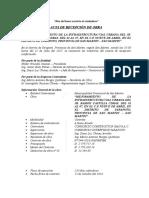 Acta de Recepcion de Obra Puente Arica