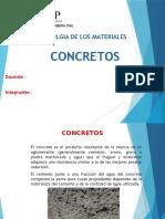 Tecnologia de Los Materiales- Concretos