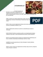 Zonas Agrícolas en Guatemala y El Mundo