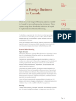 Financing a Foreign Business Operating in Canada