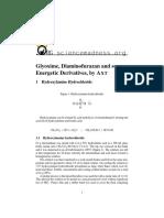 Energetic Glyoxime and Diaminofurazan Derivatives