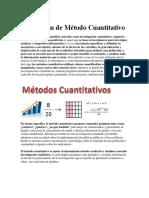 Definición de Método Cuantitativo