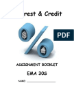 Interest and Credit Assignment Booklet