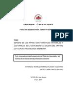 ESTUDIO DE LOS ATRACTIVOS TURÍSTICOS NATURALES Y CULTURALES  DE LA COMUNIDAD  LA CALERA DEL CANTÓN COTACACHI, PROVINCIA DE IMBABURA