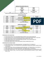 Jadwal Pelajaran Kelas 5a