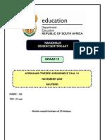 Afrikaans SAL P1 Nov 2009 (Gauteng)