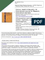 Cianelli R. Ferrer L. McElmurry B. J. 2008 . HIV Prevention and Low-Income Chilean Women