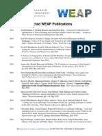 WEAP Citations