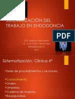 Sistemaización Del Trabajo en Endodoncia