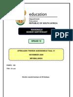Afrikaans SAL P1 Nov 2009 Mpumalanga